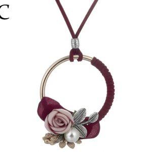 Collar Circulo de Flores