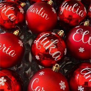 Bolas de Navidad con Vinilo