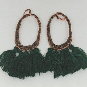 Pendientes Ovalo bronce
