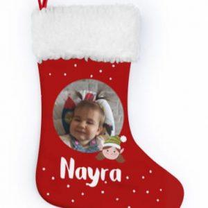 Calcetín premium elfa con foto