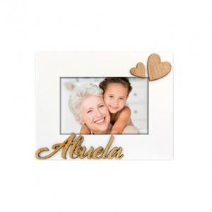 """Marco de madera con corazones """"abuela"""""""