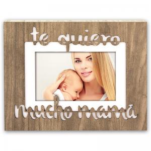 """Marco de madera """"te queremos mucho mamá"""""""