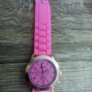 Reloj silicona rosa fluor